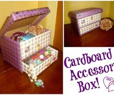 DIY Cardboard Accessory Box