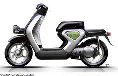 Final EV-neo design sketch. For more information visit http://world.honda.com/EV-neo/styling/index.html.