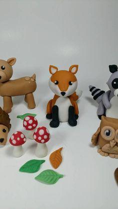 Fondant Woodland Cake Toppers Fondant Animals Woodland