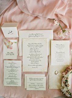 romantic floral letterpress suite by bella figure | debi zeinert of the blooming quill calligraphy