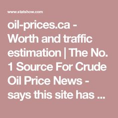 """oil-prices.ca - Worth and traffic estimation   The No. 1 Source For Crude Oil Price News - says this site has 1 view per day. According to the site's """"About Us"""" page, oil-prices.ca has 200,000 views per day. Hmmm...... see next post for """"About Us"""" page."""