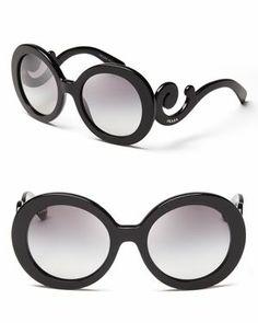 Prada Round Baroque Sunglasses Prada Óculos De Sol, Óculos De Sol Redondos,  Desfile De 990848b445