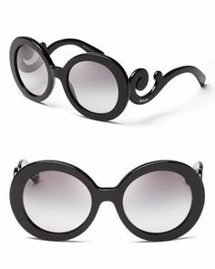 Prada Round Baroque Sunglasses