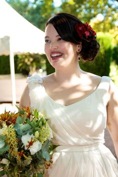 Lili from Frocks and Frou Frou looking downright stunning on her wedding day.