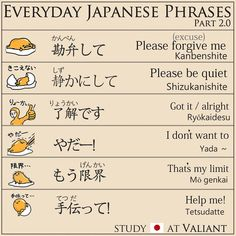 Everyday Japanese Phrases part.2