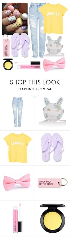 """""""Easter set (oops im late)"""" by faithkitty ❤ liked on Polyvore featuring Topshop, Monsoon, MANGO, Old Navy, Various Projects and MAC Cosmetics"""