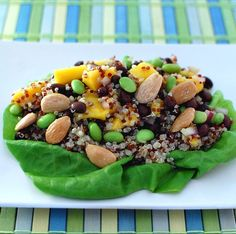 Black Beans, Avocado, Mint, and Chile-Lime Vinaigrette | Mango Salad ...