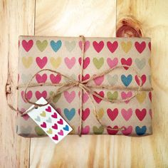 3 Sheets Full of Hearts  Wrapping Paper by ToodlesNoodles on Etsy, $20.00