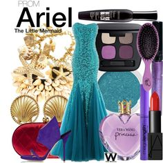 The Little Mermaid by wearwhatyouwatch on Polyvore featuring Paul Andrew, Chanel, Isabel Marant, Bare Escentuals, NARS Cosmetics, Bourjois, Tarina Tarantino, Wet n Wild, Vera Wang and Prom