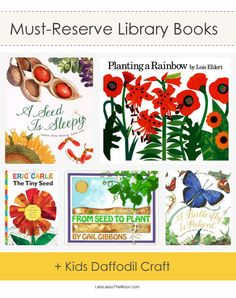 Garden Books + Adorable Egg Carton Daffodil Kids Craft *I'm going to reserve some of these today