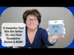 It Cosmetics CC+ Veil Fluid Foundation Demo & Review | Mature Skin