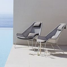 Breeze Highback Chair by Cane-line at Lumens.com