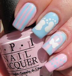 27 Best Baby Shower Nail Designs Images Baby Shower Nails