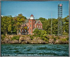 South Bass Island Lighthouse at Put-in-Bay, Ohio on Lake Erie.
