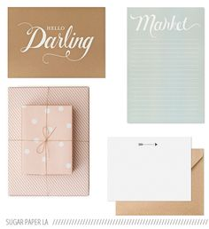 pastel + craft paper stationery //Sugar Paper, Los Angeles
