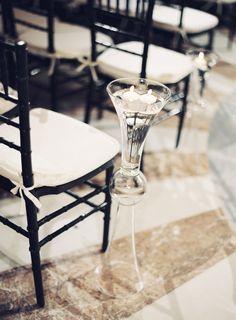 #aisle-decor  Photography: Vicki Grafton Photography - vickigraftonphotography.com  Read More: http://www.stylemepretty.com/2014/10/20/classic-dc-art-museum-wedding/