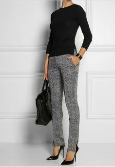 Tweed pants net-a-porter