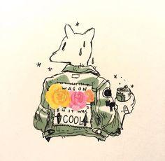 Partridge coat roses dog