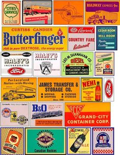Old signs for your layout Vintage Labels, Vintage Ads, Vintage Signs, Ho Scale Train Layout, Train Layouts, Logos Retro, Train Posters, Antique Signs, Old Signs