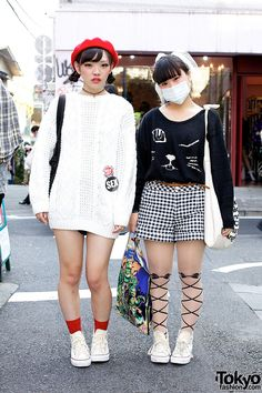 Haruna (left) & Kana (right) - both 17 year old students | 28 November 2012 | #Fashion #Harajuku (原宿) #Shibuya (渋谷) #Tokyo (東京) #Japan (日本)