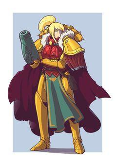 Inquisitor Samus Aran, Metroid series artwork by Blazbaros. Samus Aran, Metroid Samus, Metroid Prime, Character Art, Character Design, Super Metroid, Art Jokes, Video Game Art, Video Games