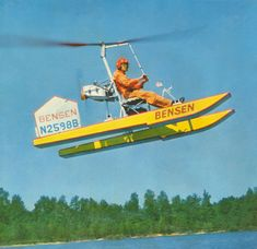 Bensen gyrocopter on floats /* oh yeah. that's what theys called. */