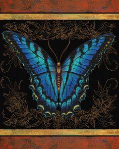 I uploaded new artwork to fineartamerica.com! - 'Butterfly Treasure-Joan Mary' - http://fineartamerica.com/featured/butterfly-treasure-joan-mary-jean-plout.html via @fineartamerica