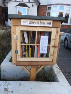 Great idea: A free library outside a house in London.