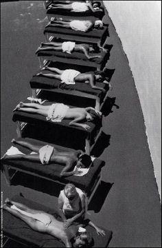 Sunbathers, The Fountainebleau Hotel, Miami, 1968 by Henri Dauman