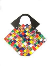 It's a purse made out of candy wrappers!
