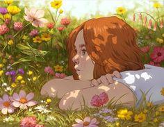 Midsummer by DjamilaKnopf on DeviantArt - - Art - Anime Aesthetic Art, Aesthetic Anime, Aesthetic Drawing, Japanese Aesthetic, Pretty Art, Cute Art, Deviantart Zeichnungen, Art Sketches, Art Drawings