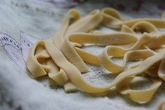 Home Made Chickpea Flour Pasta With Leek And Tomato Sauce- Blogging Over Thyme