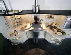 what's important to keep within reach? ~ universal kitchen design by snaidero: seven ways to increase functionality