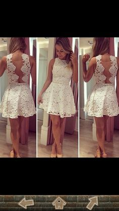// Rückenfrei // spitze // weiß // Nice // like // love // dress // kleid she looks fine