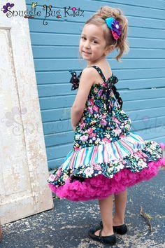 Girls Summer DressBlack Polka dot confetti by Snugglebugkidz, $58.99