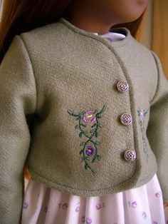 Green Jacket for Sasha Doll, but I would surely love it for an AG doll...looks like the perfect thing to go with a dirndl. $24.00, via Etsy.