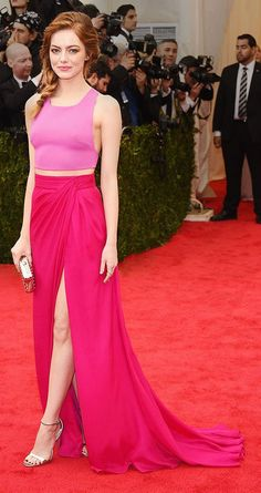 Emma Stone Pink Red Carpet | Last To The Party