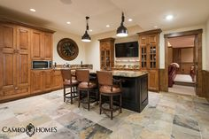 Basement Kitchen in this home built by Cameo Homes Inc. in Park City, Utah. Park City Home Builders