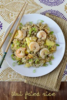 Thai Fried Rice is a unique and delicious recipe - switch up fried rice tonight! #glutenfree | iowagirleats.com