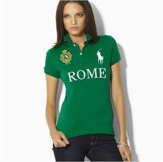 Ralph Lauren Womens Skinny-Fit Rome City Short-sleeved Polo Green