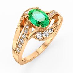 DAKOTA déclinable en or 18kt ou platine met en valeur une pierre centrale de taille ovale de 0.50 carat et accompagné par des courbes de 18 diamants pour un poids total de 0.24 carat de qualité G SI1. [1520,00€]