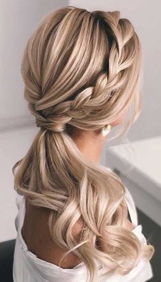 Ponytail updos for weddings ponytail hairstyles ponytail hairstyles 2020 wedding ponytail prom hairstyles prom ponytail weddinghairstyles wedding hairstyles diy desk diy bed frame garden design garden furniture unicorn nail grey nail diy wohnen gray nail Wedding Ponytail Hairstyles, School Hairstyles, Bridesmaid Hair Ponytail, Hairstyle Short, Easy Prom Hairstyles, Homecoming Hairstyles, Office Hairstyles, Anime Hairstyles, Stylish Hairstyles