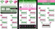 Requested pink & green diamond homepack. Icons are transparent. Alpha Kappa Alpha Sorority Inc. colors #AKA #homepackbuzz #buzzlauncher