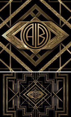 The great gatsby, great gatsby wedding, monogram maker, art deco monogram, art The Great Gatsby, Great Gatsby Themed Party, Great Gatsby Wedding, Art Deco Wedding, Gatsby Party, Motif Art Deco, Art Deco Design, E Design, Art Deco Monogram