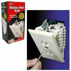 Hidden Electrical Outlet Wall Safe w/Key,Template & Saw FREE SHIPPING