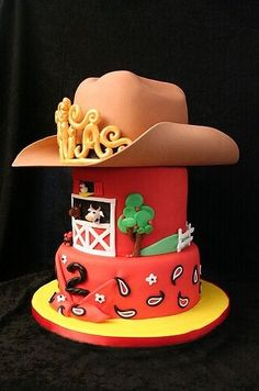 Look at all the amazing farm themed cakes! A farm theme is a great idea for a birthday party for boys, girls, and even grown-ups! Cowboy Birthday Party, Themed Birthday Cakes, Farm Birthday, Boy Birthday Parties, Themed Cakes, Birthday Ideas, Tractor Birthday, Cowboy Party, Unicorn Birthday