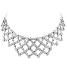 Allurez 10.42ct 18k White Gold Diamond Fancy Necklace (113.920 VEF) ❤ liked on Polyvore featuring jewelry, necklaces, jewels, accessories, white gold, 18 karat white gold necklace, diamond necklaces, 18 karat gold necklace, anniversary necklace and diamond jewelry