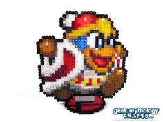 Smash Bros King Dedede Pixel Perler Bead by GeekMythologyCrafts