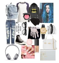 """""""Untitled #44"""" by our-love-keeps-me-alive ❤ liked on Polyvore featuring Current/Elliott, Converse, Camp Collection, H&M, Avenue, Phase 3, Rolex, Beats by Dr. Dre, Zero Gravity and Versace"""