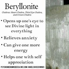 Beryllonite crystal meaning